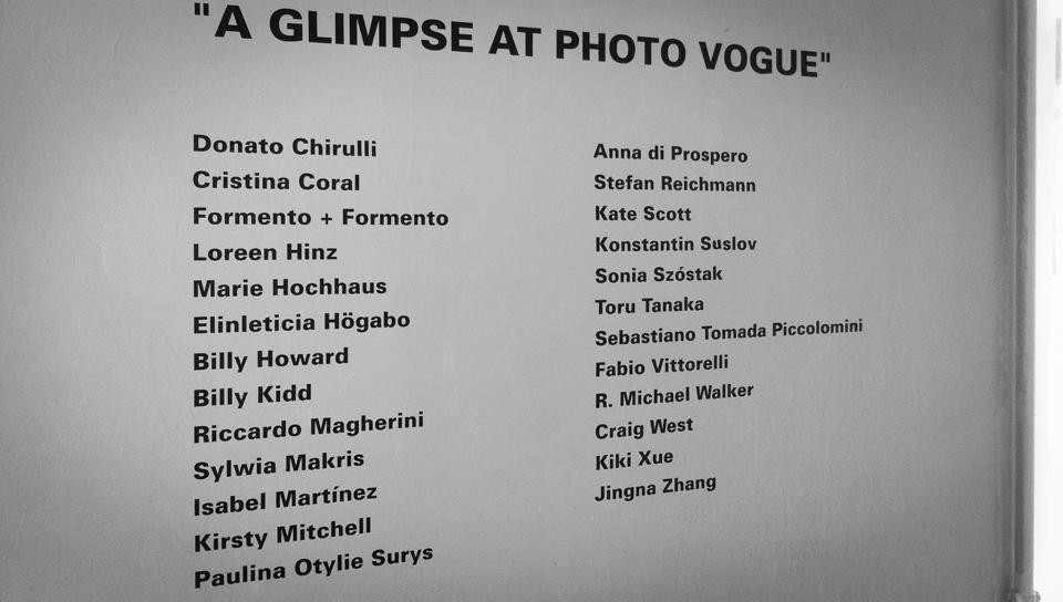 a glimpse at photo vogue